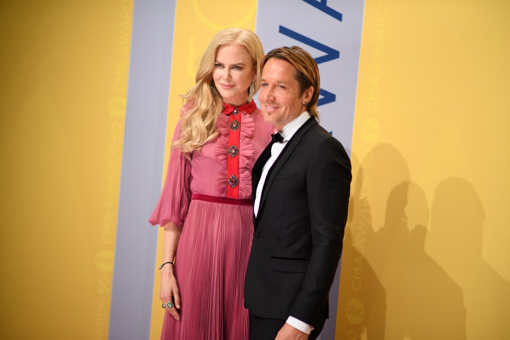 THE 50th ANNUAL CMA AWARDS - The 50th Annual CMA Awards, hosted by Brad Paisley and Carrie Underwood, broadcasts live from the Bridgestone Arena in Nashville, Wednesday, November 2 (8:00-11:00 p.m. EDT), on the ABC Television Network. (Image Group LA/ABC via Getty Images) NICOLE KIDMAN, KEITH URBAN