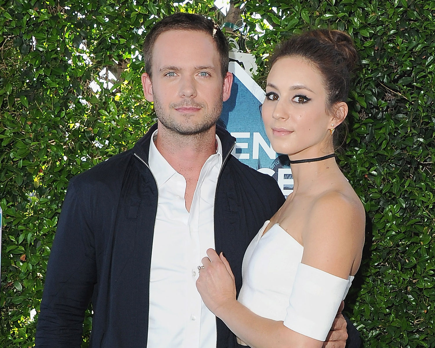 Troian Bellisario And Patrick J Adams Camping Themed