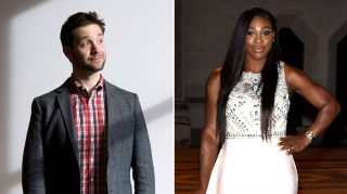 Alexis Ohanian and fiancee Serena Williams