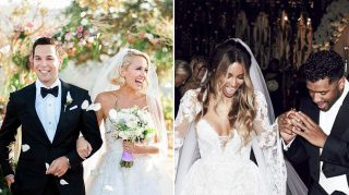 Skylar Astin Anna Camp Wedding Ciara Russell Wilson