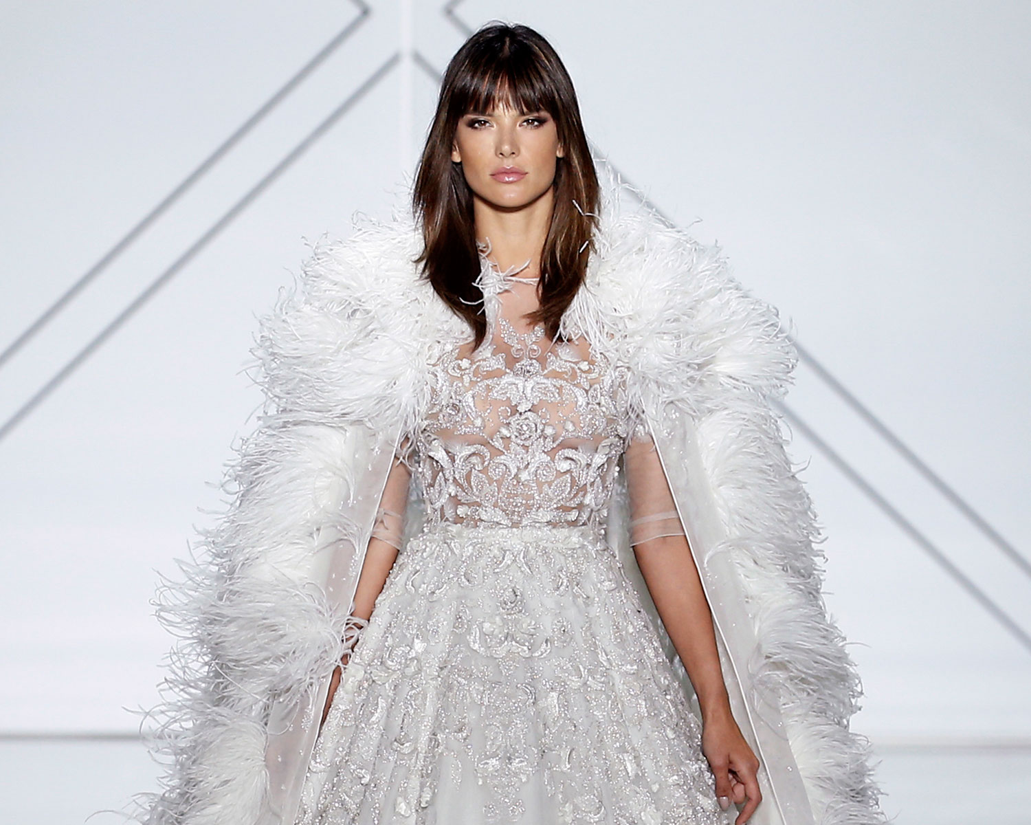 Alessandra Ambrosio Wows in Ralph & Russo Couture Wedding Dress
