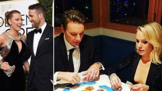 Blake Lively Ryan Reynolds Kristen Dax Globes