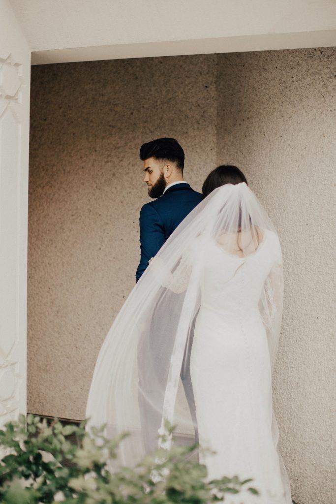 Bryce Harper and Kayla Varner wedding. (Credit: India Earl)