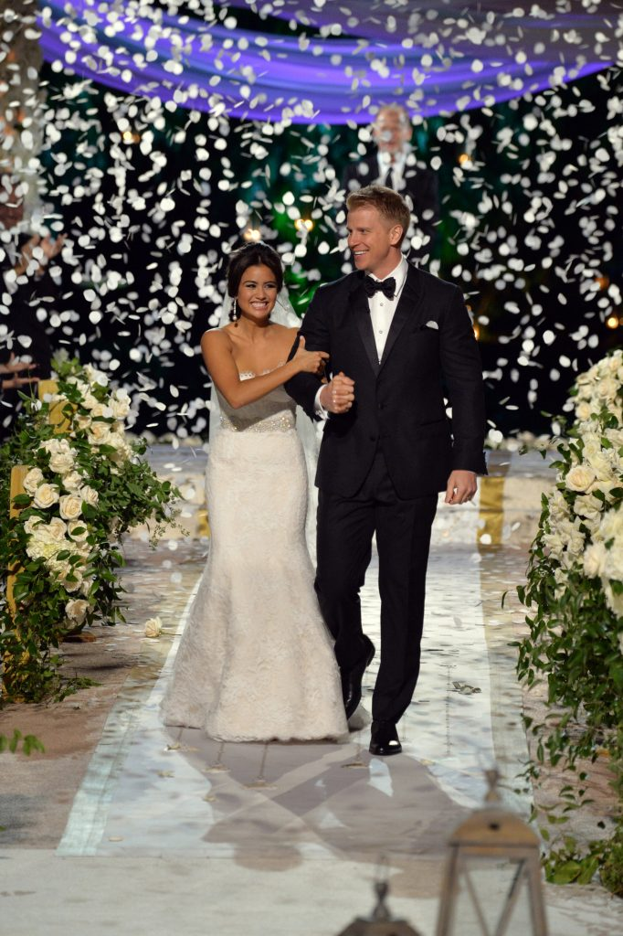 "THE BACHELOR: SEAN AND CATHERINE'S WEDDING - Sean Lowe and Catherine Giudici, the latest to join other ""Bachelor"" couples who have walked down the aisle, shared a dramatic new chapter of their love story with millions of viewers and Bachelor Nation when ABC televised their much anticipated wedding, live, on ""The Bachelor: Sean and Catherine's Wedding,"" SUNDAY, JANUARY 26, 2014 (8:00-10:00 p.m., ET), on the ABC Television Network. (Todd Wawrychuk/ABC via Getty Images) CATHERINE LOWE, SEAN LOWE"