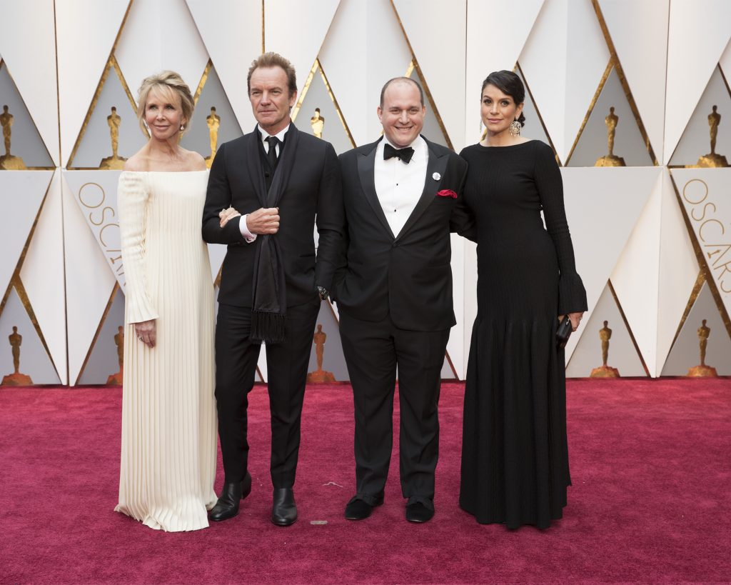 THE OSCARS(r) - The 89th Oscars(r) broadcasts live on Oscar(r) SUNDAY, FEBRUARY 26, 2017, on the ABC Television Network. (ABC/Tyler Golden) TRUDIE STYLER, STING, J RALPH