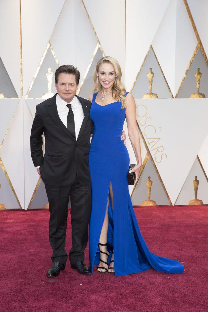 THE OSCARS(r) - The 89th Oscars(r) broadcasts live on Oscar(r) SUNDAY, FEBRUARY 26, 2017, on the ABC Television Network. (ABC/Tyler Golden) MICHAEL J. FOX, TRACY POLLAN