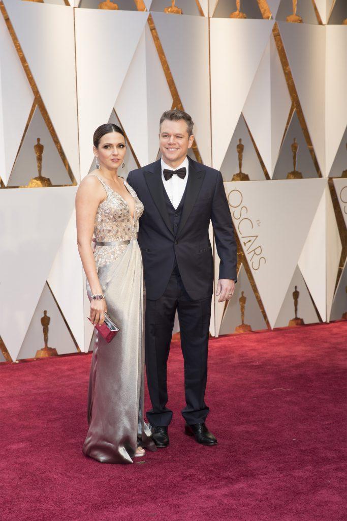 THE OSCARS(r) - The 89th Oscars(r) broadcasts live on Oscar(r) SUNDAY, FEBRUARY 26, 2017, on the ABC Television Network. (ABC/Tyler Golden) LUCIANA BARROSO, MATT DAMON