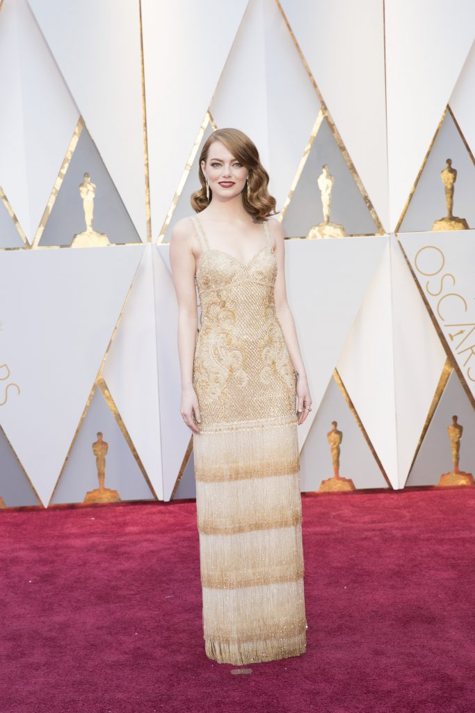 THE OSCARS(r) - The 89th Oscars(r) broadcasts live on Oscar(r) SUNDAY, FEBRUARY 26, 2017, on the ABC Television Network. (ABC/Tyler Golden) EMMA STONE