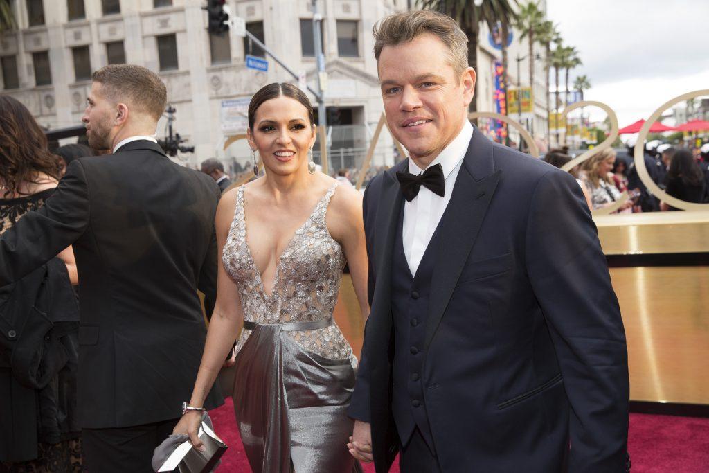 THE OSCARS(r) - The 89th Oscars(r) broadcasts live on Oscar(r) SUNDAY, FEBRUARY 26, 2017, on the ABC Television Network. (ABC/Greg Gayne) LUCIANA BARROSO, MATT DAMON