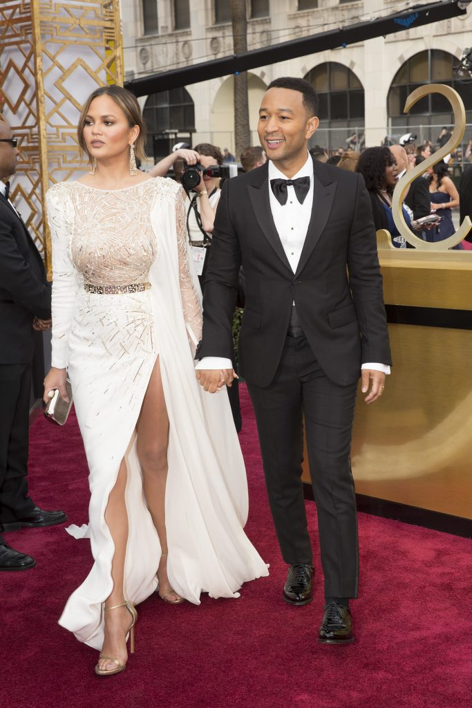 THE OSCARS(r) - The 89th Oscars(r) broadcasts live on Oscar(r) SUNDAY, FEBRUARY 26, 2017, on the ABC Television Network. (ABC/Adam Rose) CHRISSY TEIGEN, JOHN LEGEND