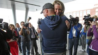 Boston Marathon bombing survivor fireman firefighter engaged
