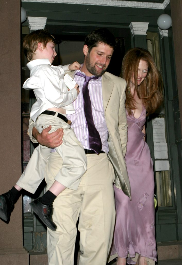 Julianne Moore and Bart Freundlich during Julianne Moore and Bart Freundlich Wedding Reception in New York City, New York, United States. (Photo by James Devaney/WireImage)