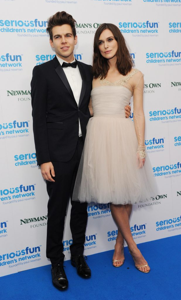 LONDON, UNITED KINGDOM - DECEMBER 03: James Righton and Keira Knightley attend the SeriousFun London Gala 2013 at The Roundhouse on December 3, 2013 in London, England.The Serious Fun Children's Network is a growing community of camps and programs serving children with serious illnesses and their families and was set up by Paul Newman in 1988. (Photo by Stuart C. Wilson/Getty Images)