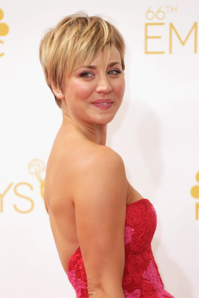 LOS ANGELES, CA - AUGUST 25: Actress Kaley Cuoco-Sweeting attends the 66th Annual Primetime Emmy Awards held at Nokia Theatre L.A. Live on August 25, 2014 in Los Angeles, California. (Photo by Jeff Vespa/WireImage)