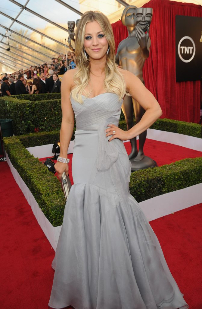 LOS ANGELES, CA - JANUARY 18: Kaley Cuoco attends 20th Annual Screen Actors Guild Awards at The Shrine Auditorium on January 18, 2014 in Los Angeles, California. (Photo by Kevin Mazur/WireImage)