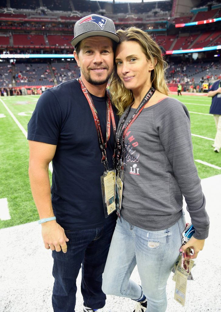 HOUSTON, TX - FEBRUARY 05:  Actor Mark Wahlberg and Rhea Durham attend Super Bowl LI at NRG Stadium on February 5, 2017 in Houston, Texas.  (Photo by Kevin Mazur/WireImage)