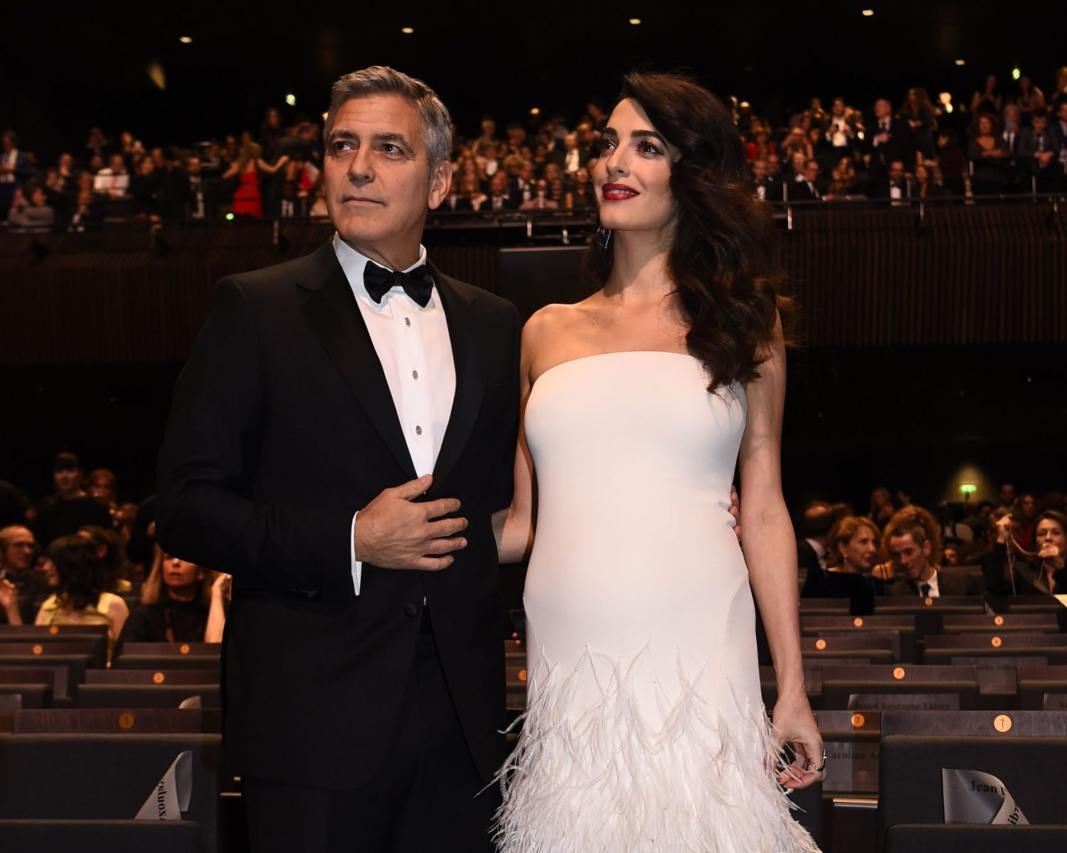 Amal Clooney Serves Up Wedding Inspiration in Feathered ...