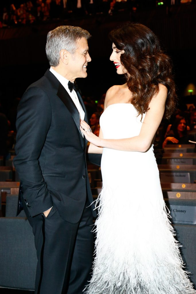 PARIS, FRANCE - FEBRUARY 24:  George Clooney and Amal Clooney pose during the Cesar Film Awards Ceremony at Salle Pleyel on February 24, 2017 in Paris, France.  (Photo by Julien Hekimian/Getty Images)