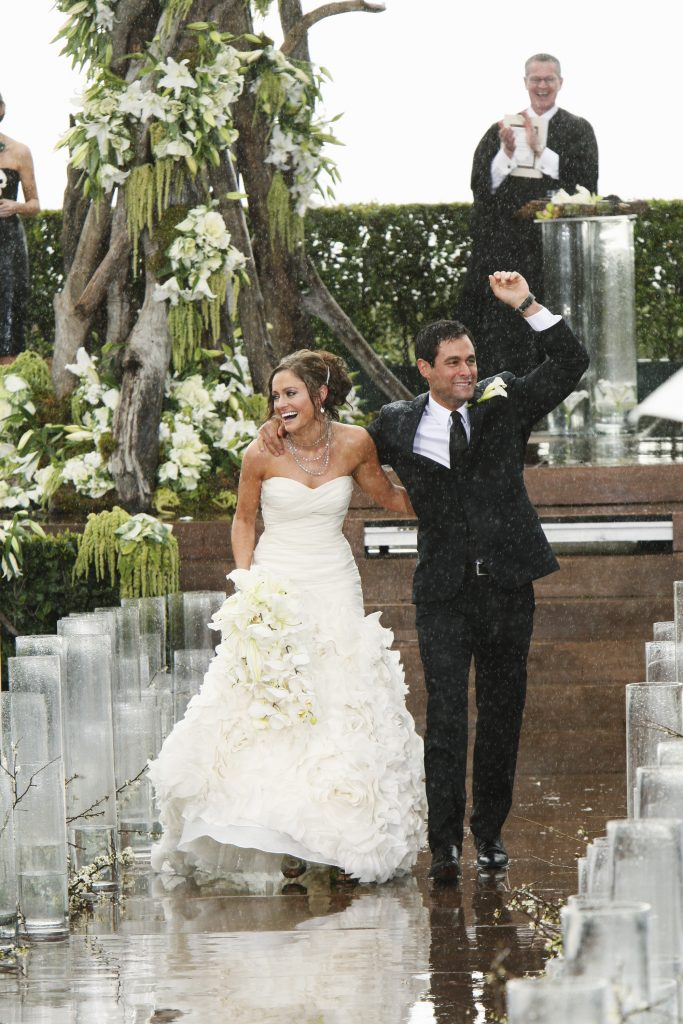 """THE BACHELOR: JASON AND MOLLY'S WEDDING - Jason Mesnick and Molly Malaney, the first """"Bachelor"""" couple to ever walk down the aisle, will share a dramatic new chapter of their love story with millions of viewers when ABC televises their much anticipated wedding on """"The Bachelor: Jason and Molly's Wedding,"""" MONDAY, MARCH 8 (8:00-10:00 p.m., ET), on the ABC Television Network. (Photo by Robert Voets/ABC via Getty Images) MOLLY MALANEY, JASON MESNICK"""