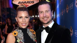 Ashley Van Metre (L) and her fiance, NASCAR Sprint Cup Series driver Kurt Busch, attend the 2016 NASCAR Sprint Cup Series Awards at Wynn Las Vegas on December 2, 2016 in Las Vegas, Nevada.  (Photo by Ethan Miller/Getty Images)