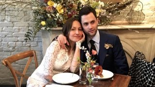 Penn Badgley and Domino Kirke wedding