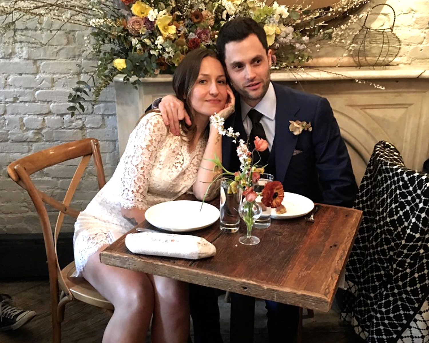 Penn Badgley Domino Kirke S Second Wedding Photos