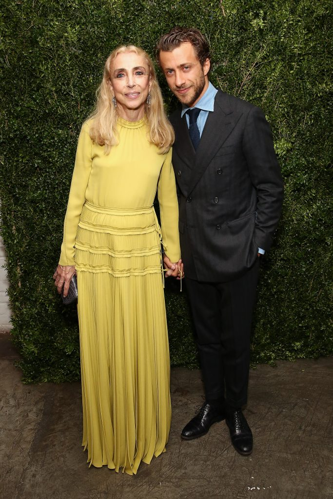 """NEW YORK, NY - OCTOBER 13: Editor-In-Chief of Italian Vogue Franca Sozzani (L) and director Francesco Carrozzini attend the """"Franca: Chaos And Creation"""" New York Screening at Metrograph on October 13, 2016 in New York City. (Photo by Monica Schipper/WireImage)"""