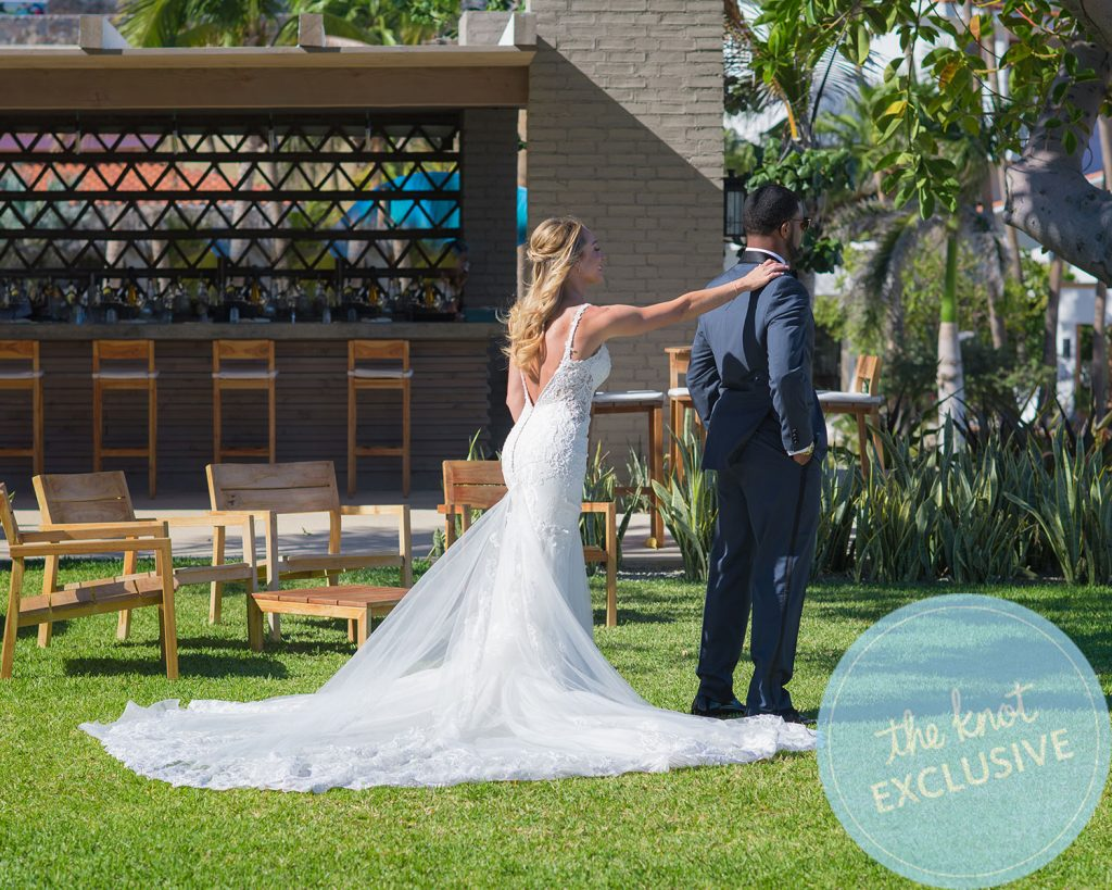 Golden Tate and Elise Pollard's wedding. (Credit: Alec & T Photography)
