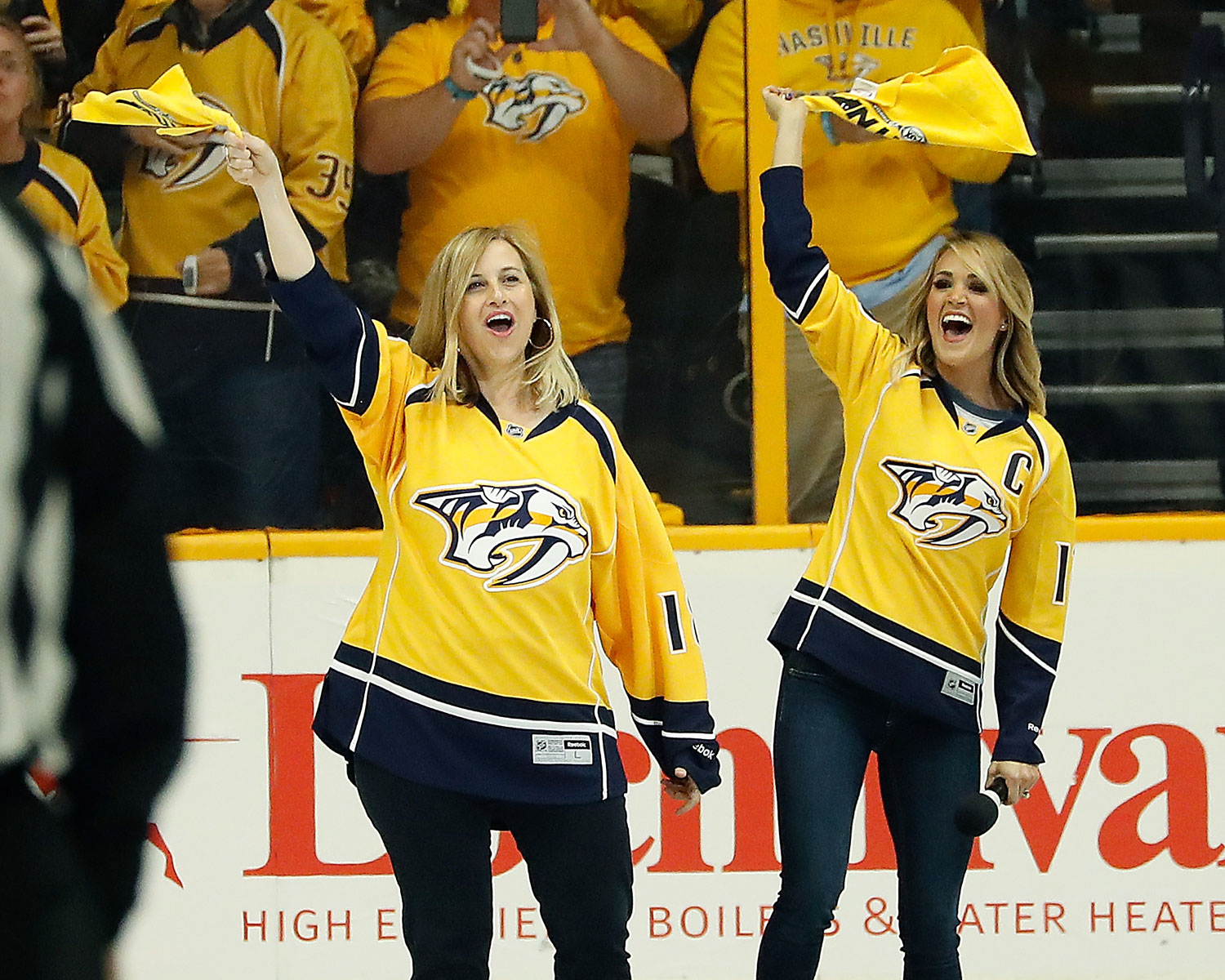 Carrie Underwood Bridgestone National Anthem Mike Fisher