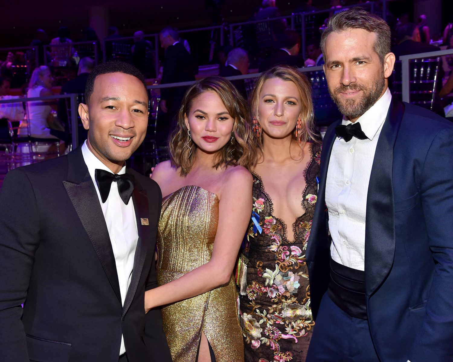 Blake Lively Ryan Reynolds Hang With Chrissy Teigen John