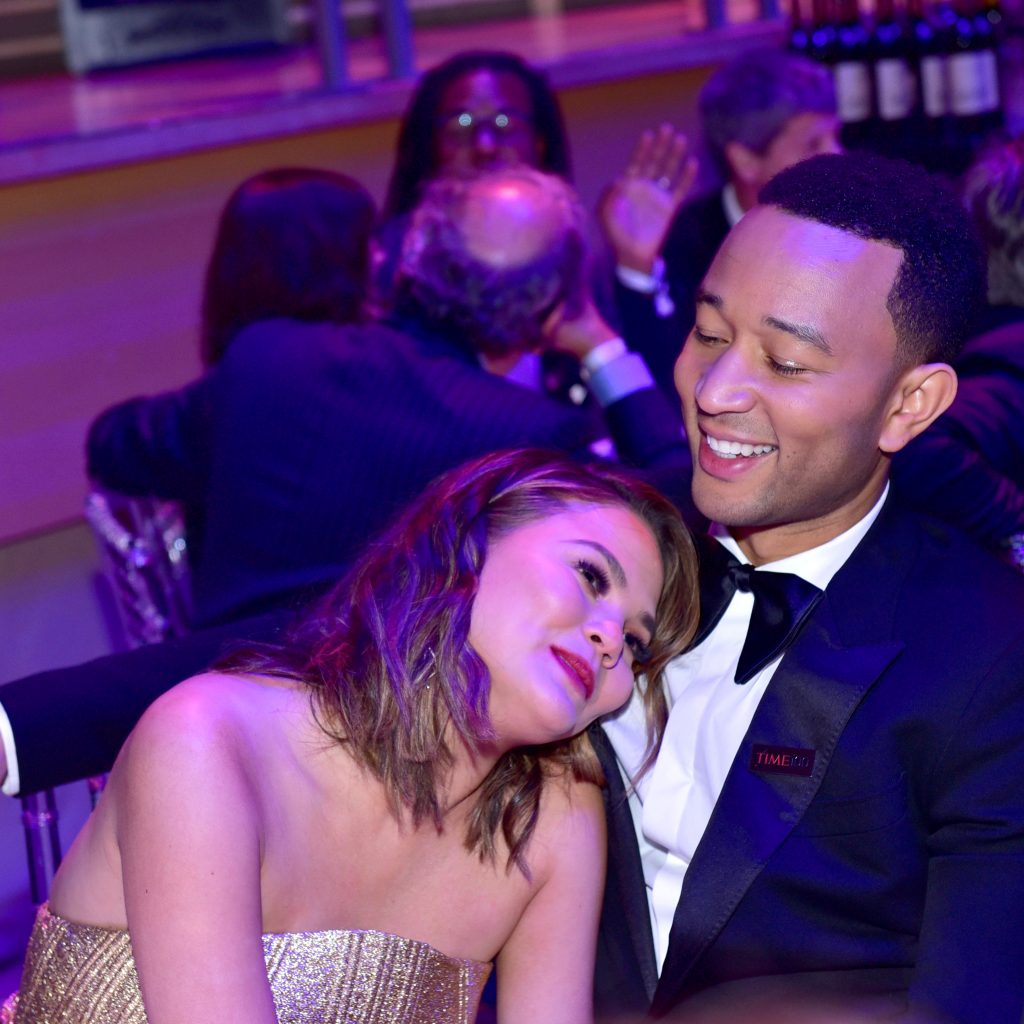 NEW YORK, NY - APRIL 25: Chrissy Teigen and John Legend attend the 2017 TIME 100 Gala at Jazz at Lincoln Center on April 25, 2017 in New York City. (Photo by Sean Zanni/Patrick McMullan via Getty Images)