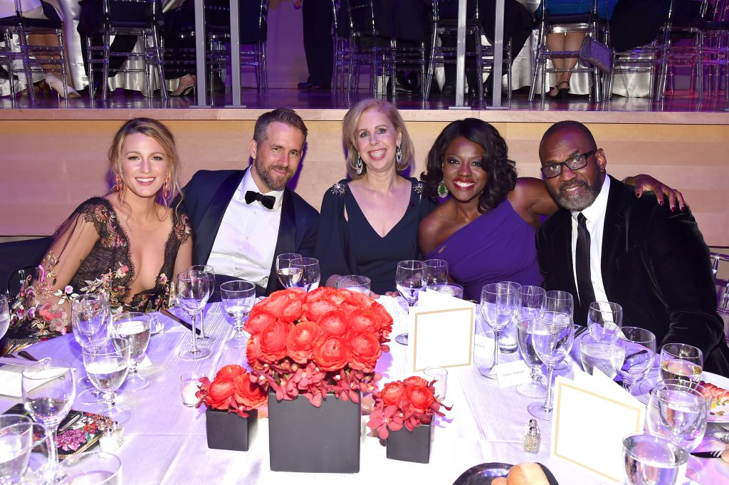 NEW YORK, NY - APRIL 25: Blake Lively, Ryan Reynolds, Jane Gibbs, Viola Davis and Julius Tennon attend the 2017 TIME 100 Gala at Jazz at Lincoln Center on April 25, 2017 in New York City. (Photo by Patrick McMullan/Patrick McMullan via Getty Images)