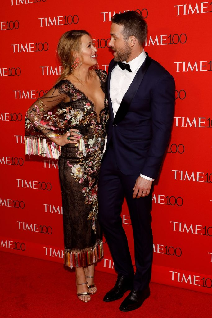 NEW YORK, NY - APRIL 25: Blake Lively and Ryan Reynolds attend the 2017 Time 100 Gala at Jazz at Lincoln Center on April 25, 2017 in New York City. (Photo by Taylor Hill/FilmMagic)
