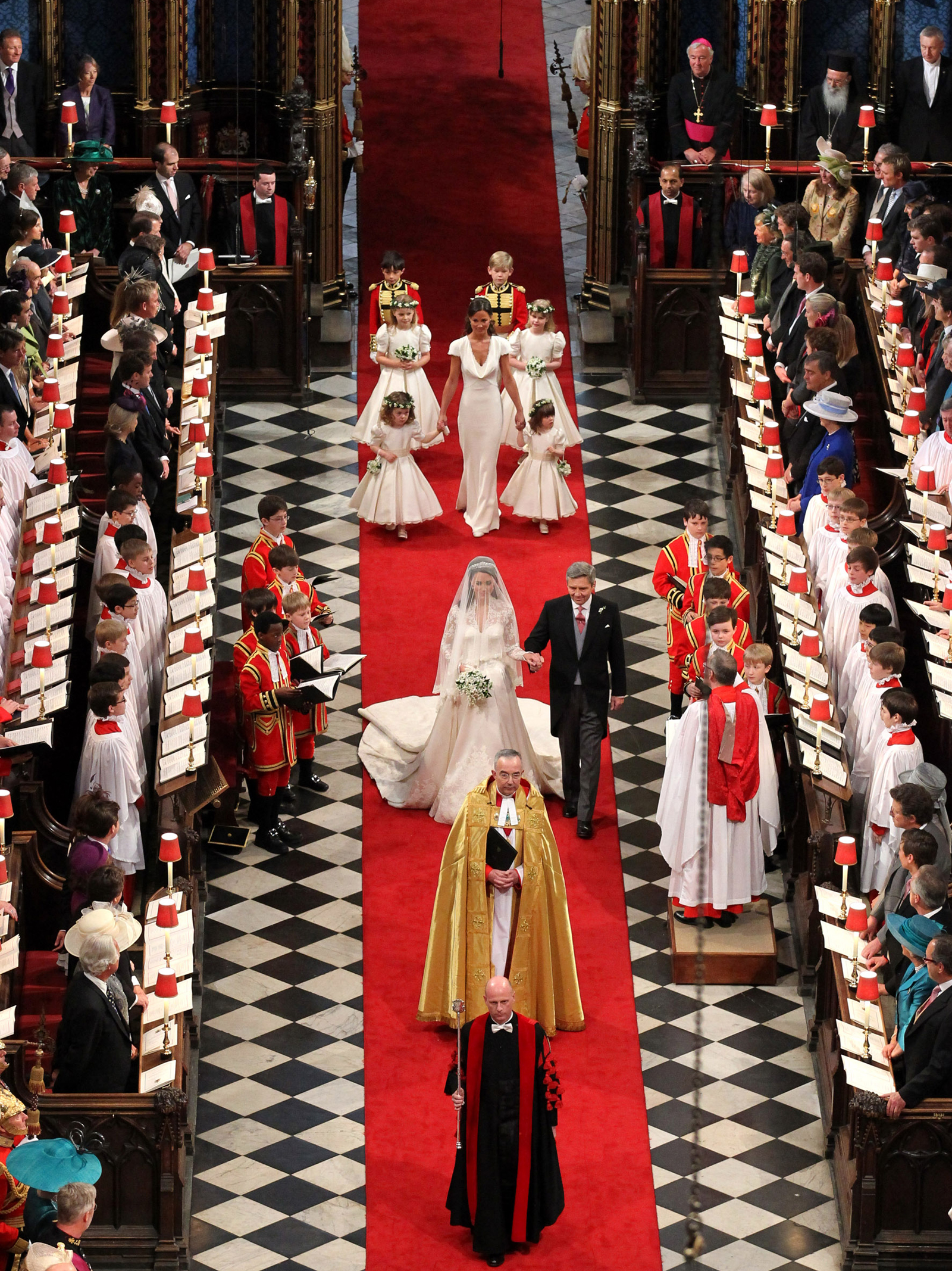 will and kate processional wedding