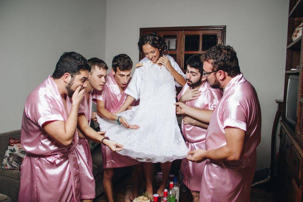 This bride's bromaids. (Photo credit: Rebecca Abrantes)
