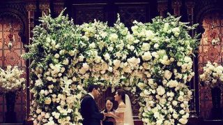 Actress Emmy Rossum devised a very sweet plan to repurpose her wedding day flowers after marrying Sam Esmail in New York City over Memorial Day weekend. (Photo courtesy of Emmy Rossum / Facebook)
