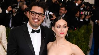 Sam Esmail Emmy Rossum photos wedding