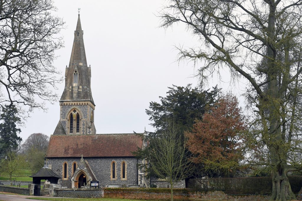 ENGLEFIELD, ENGLAND - DECEMBER 25: View of St Marks Church where the Middleton Family attend a Christmas Day service on December 25, 2016 in Englefield, England. (Photo by Anwar Hussein/WireImage)