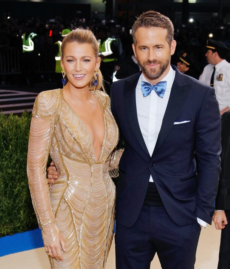 NEW YORK, NY - MAY 01: Blake Lively and Ryan Reynolds attend 'Rei Kawakubo/Comme des Garçons:Art of the In-Between' Costume Institute Gala at Metropolitan Museum of Art on May 1, 2017 in New York City. (Photo by Jackson Lee/FilmMagic)