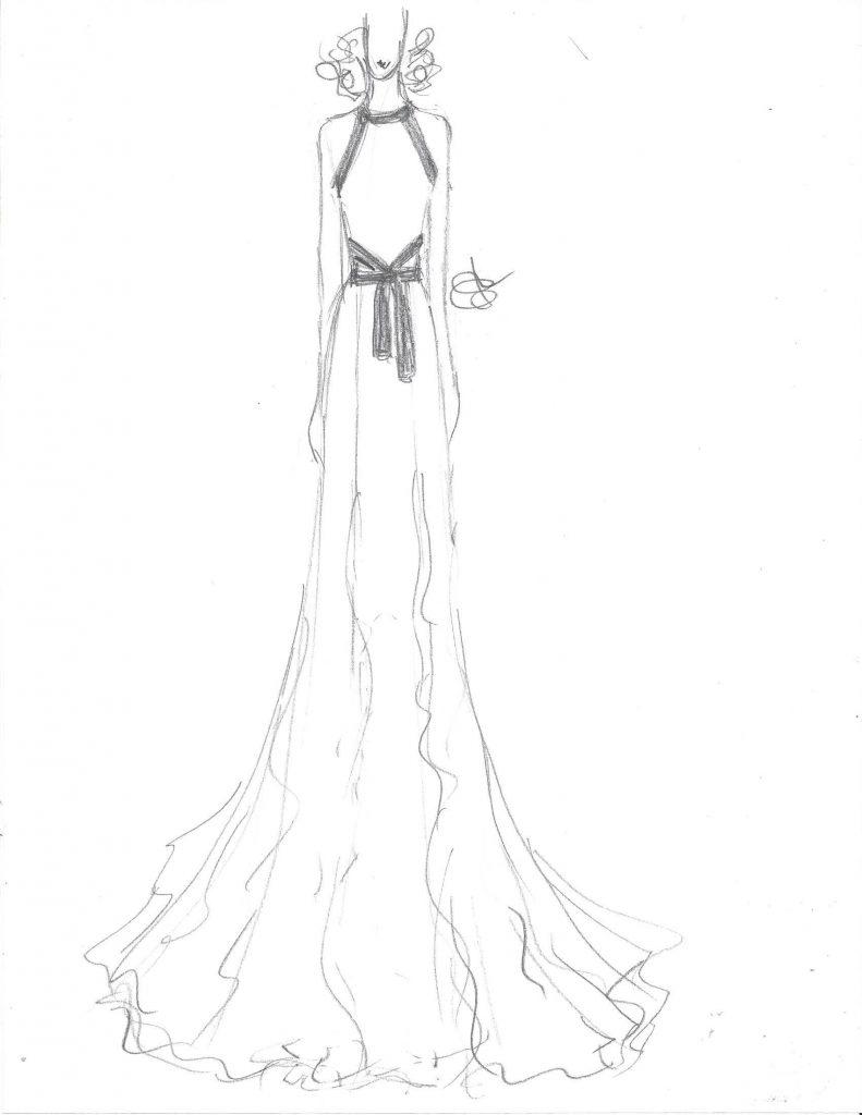 Bachelorette gown Randi Rahm sketch Rachel Lindsay