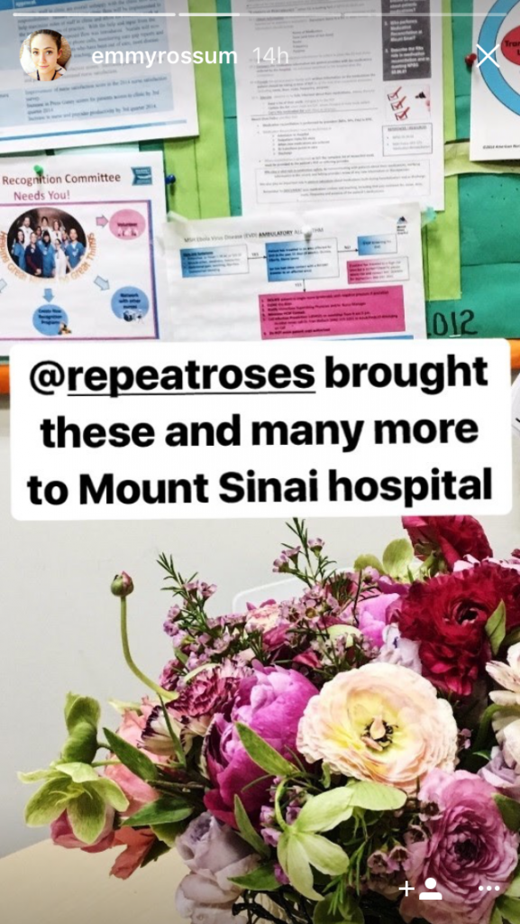 Emmy Rossum wedding flowers