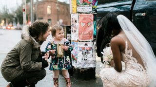 A little girl thought this bride was a real-life princess from her book. (Credit: Stephanie Cristalli / Stephanie Cristalli Photography)