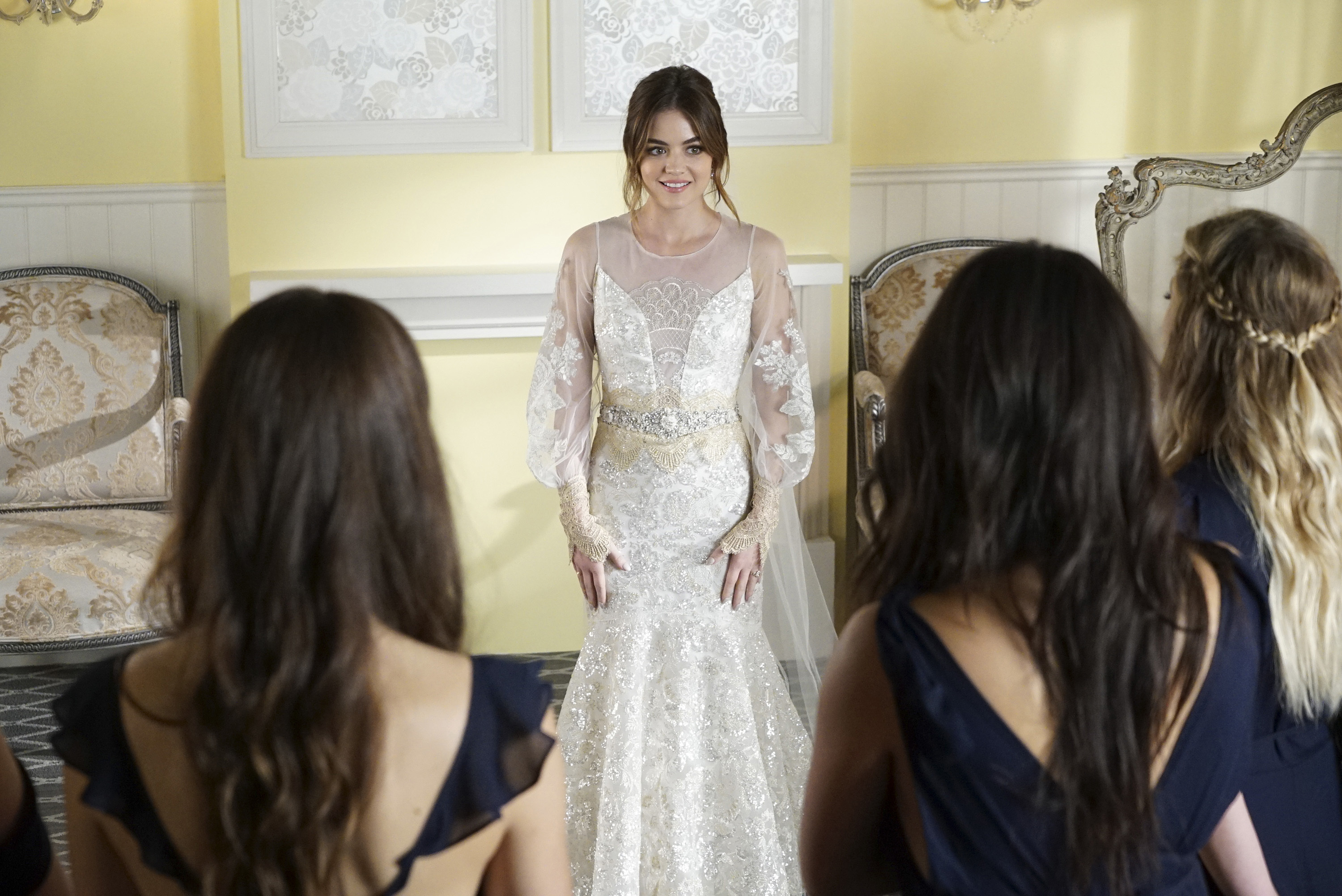 Pretty Little Liars Wedding Gown Bridesmaid Dress Details Exclusive
