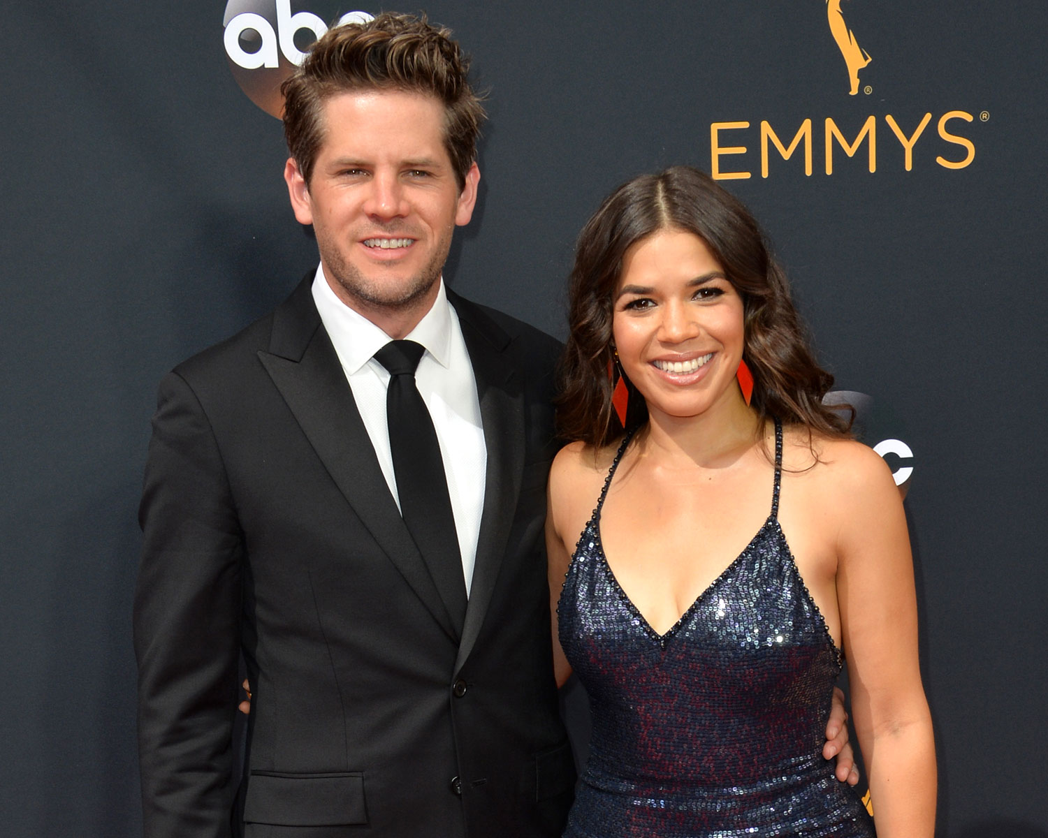 America Ferrera and Ryan Piers at Emmy Awards