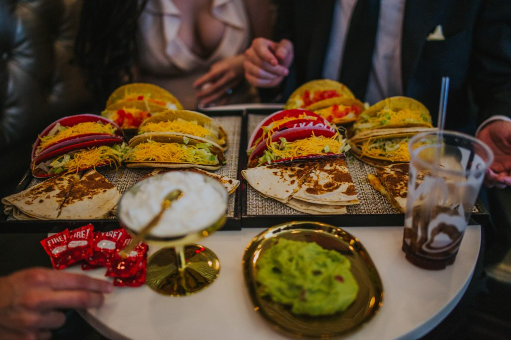 Meet the first couple to marry at Taco Bell and have a themed wedding in Las Vegas—Cantina style. (Courtesy of Taco Bell)