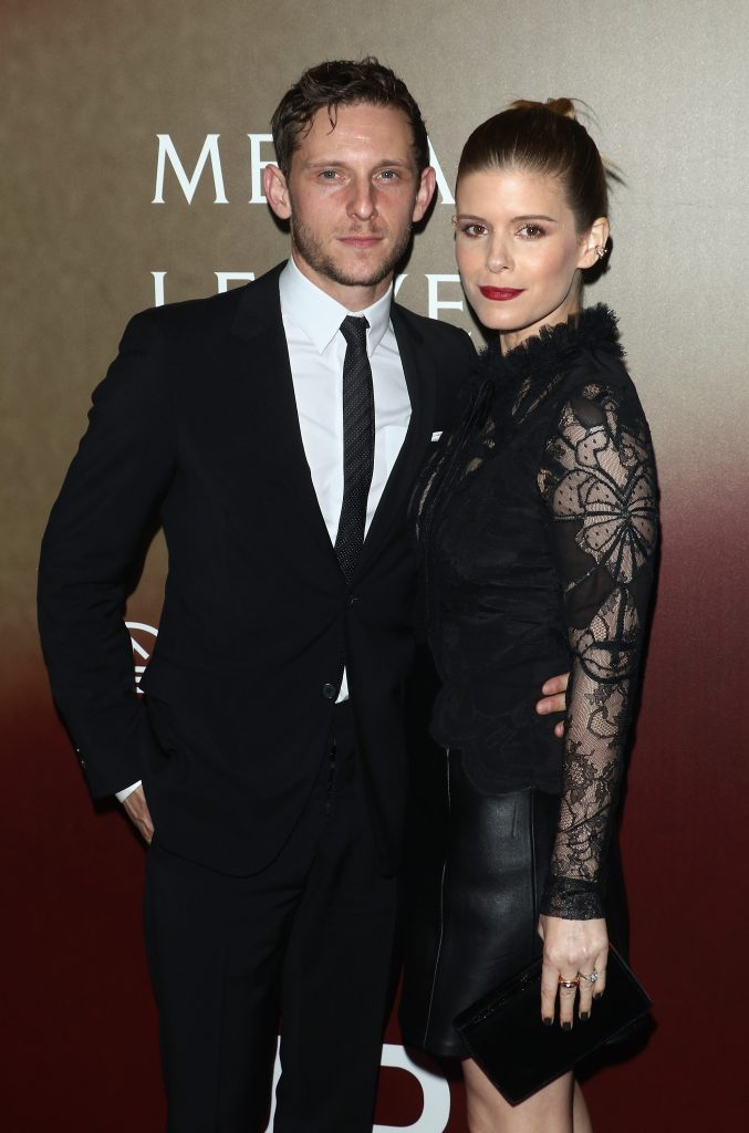 "Actors Jamie Bell and Kate Mara attend the ""Megan Leavey"" world premiere at Yankee Stadium on June 5, 2017 in New York City. (Photo by Jim Spellman/WireImage)"