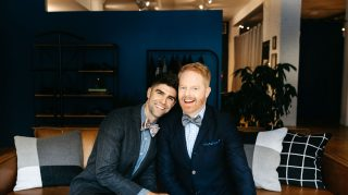 'Modern Family' actor Jesse Tyler Ferguson tells The Knot how his #LoveMarchesOn with husband Justin Mikita during Pride Month. (Photo courtesy of The Tie Bar)