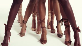 Louboutin Nude collection stilettos