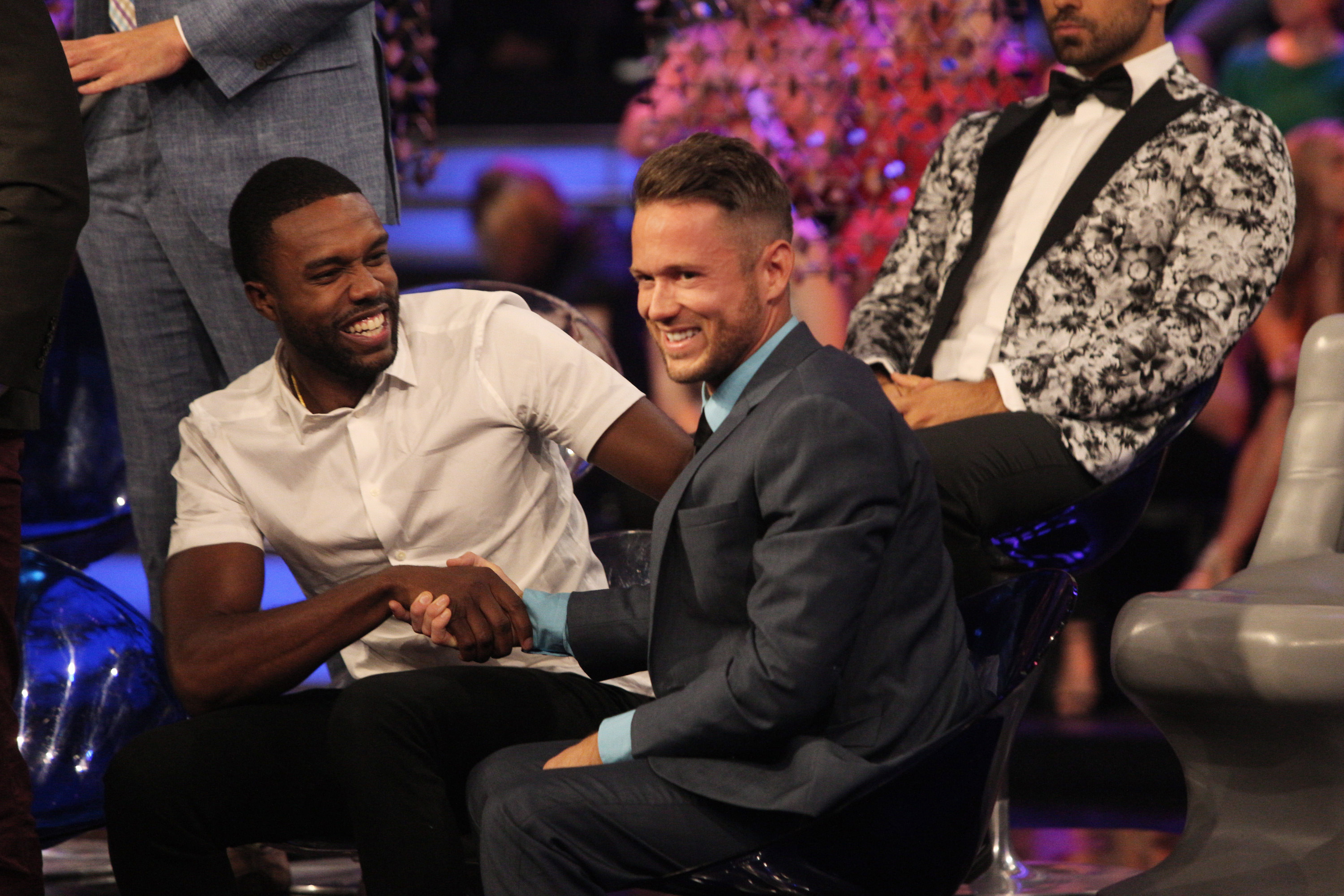 Lee Garrett is put in the hot seat on The Bachelorette: Men Tell All (ABC/Paul Hebert)
