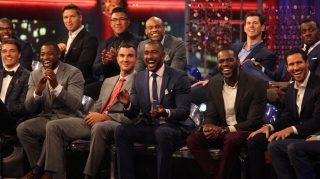 "Bachelorette Rachel Lindsay's suitors reunite for the season 13 ""Men Tell All"" special (ABC/Paul Hebert)"
